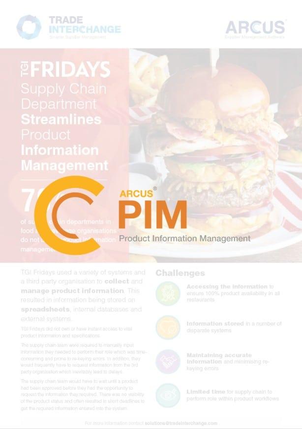 TGI Fridays PIM Case Study