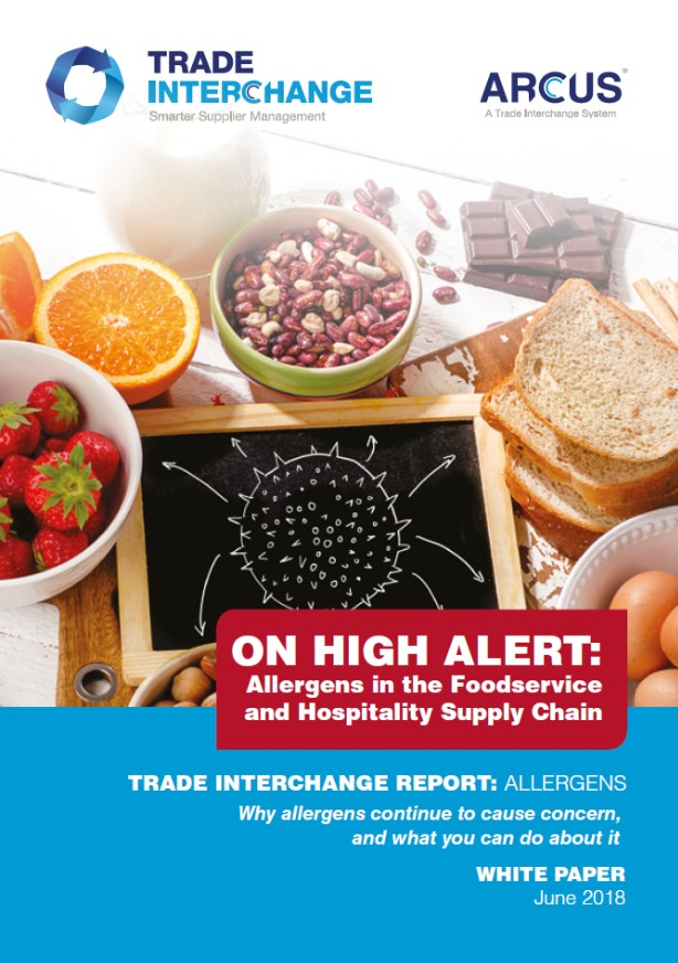 Allergens in the foodservice and hospitality supply chain
