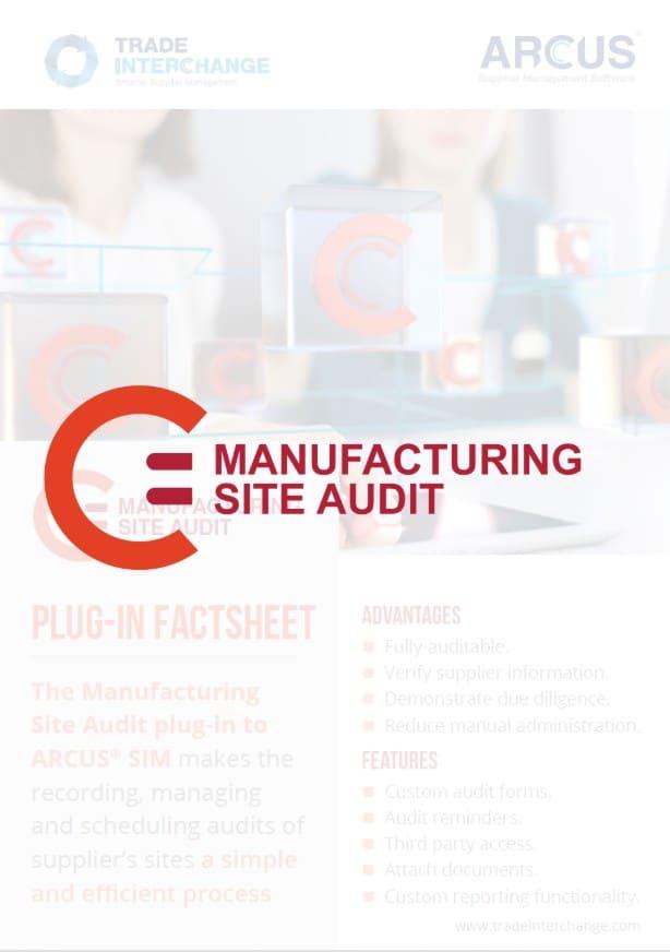 Manufacturing Site Audit Factsheet