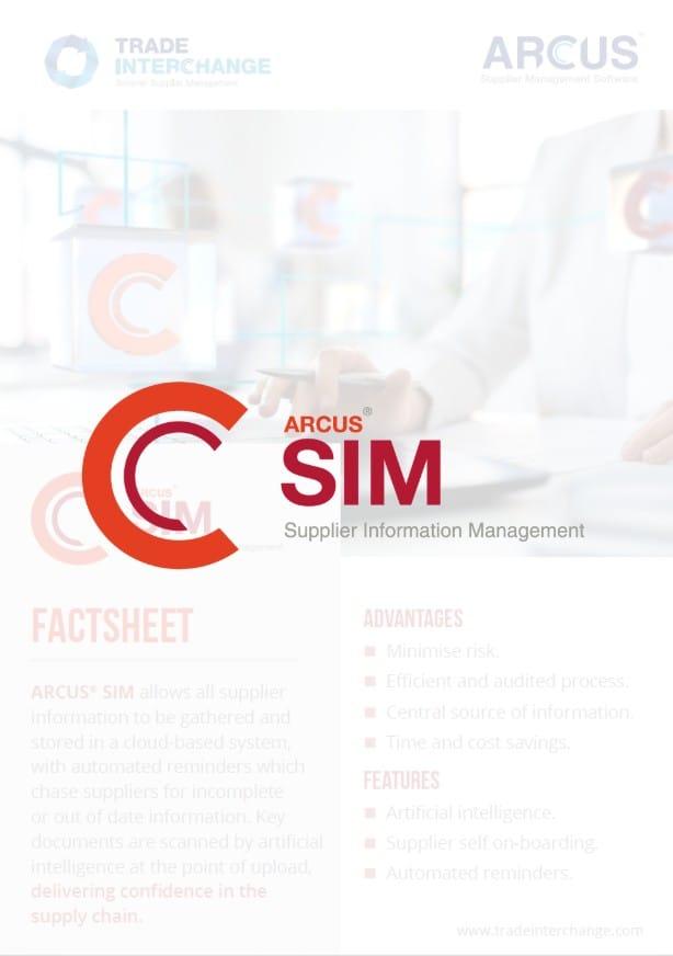 Supplier Information Management Factsheet