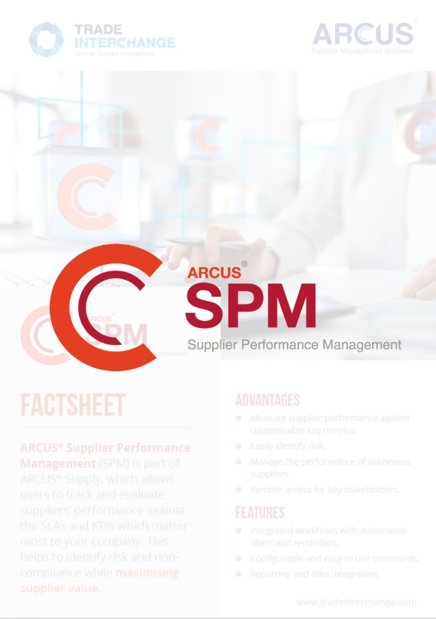Supplier Performance Management Factsheet