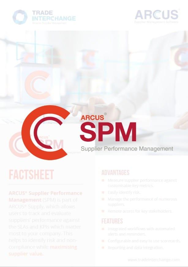 Supplier Performance Management Factsheet