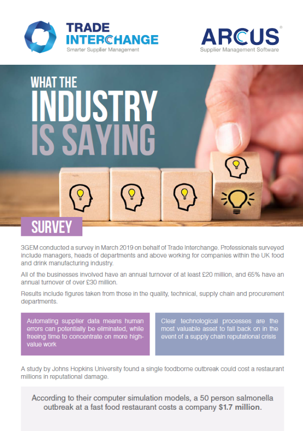 Food & Beverage - What the industry is saying